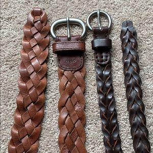 American Eagle woven braided leather belts